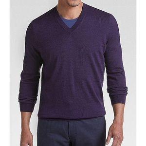 "Jos. A. Bank ""Traveler"" Merino Wool V-Neck Sweater"